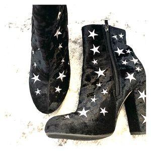 Wild Diva Velvet star boots